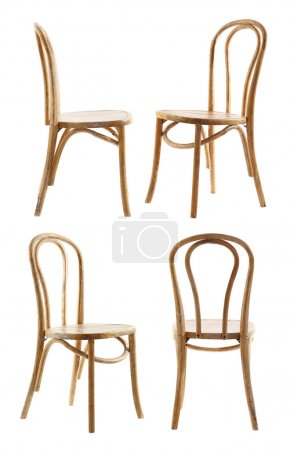 Collage of stylish chairs