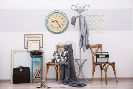 Photo pour Intérieur de la chambre moderne dans un style vintage - image libre de droit