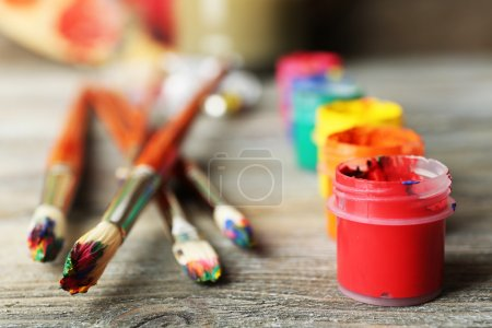 Beautiful still life with art materials