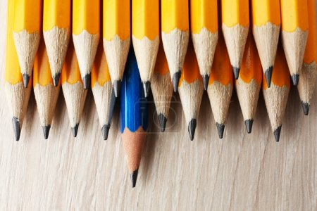 Individuality concept with Pencils