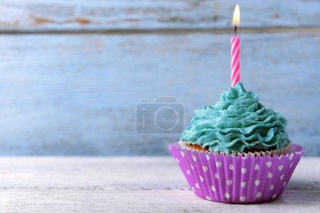 Delicious birthday cupcake