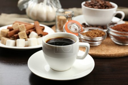 Photo for Fresh morning coffee on table - Royalty Free Image