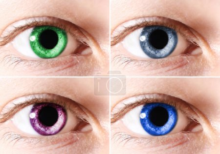 Colorful eyes collage