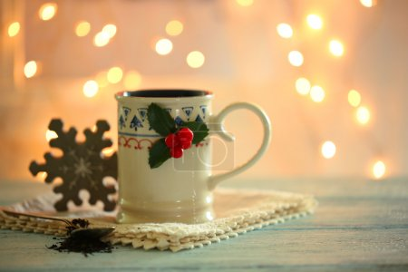 Christmas cup of hot drink