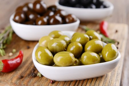 Different marinated olives