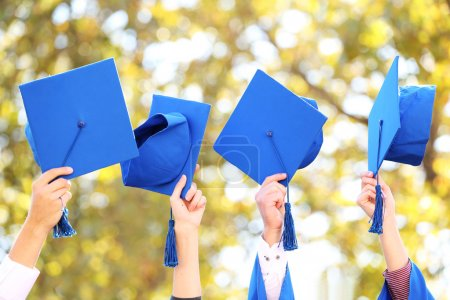 Photo for High school graduation hats high - Royalty Free Image