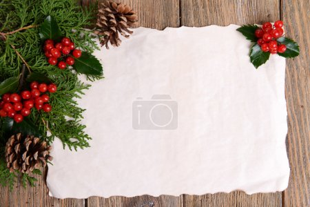 Christmas decoration with paper sheet