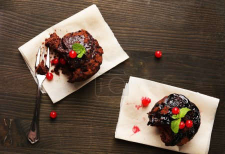 Photo for Yummy chocolate cupcake on table - Royalty Free Image