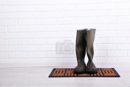 Dirty wellington boots