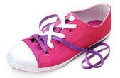 Processo di legatura lacci delle scarpe