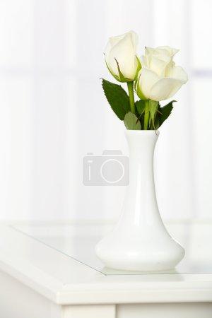 Beautiful bouquet of flowers in vase