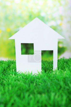 Cutout paper house