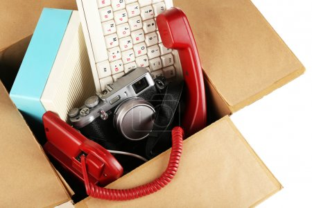 Photo for Box of unwanted stuff close up - Royalty Free Image
