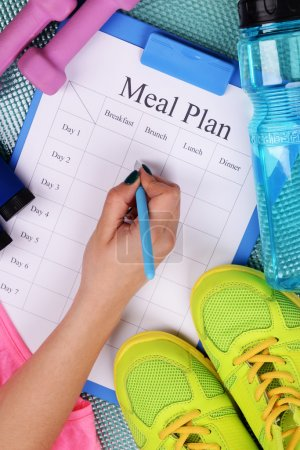 Meal plan and sports equipment