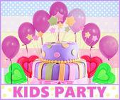 Barevné dětské oslavy plakát