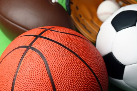 Photo for Sports balls close up - Royalty Free Image
