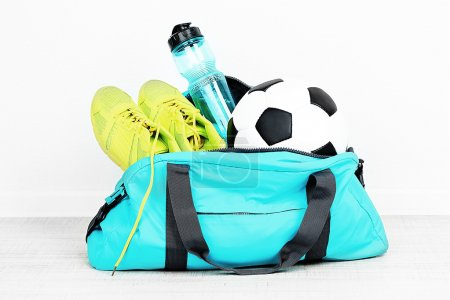 Sports bag with equipment