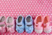 Dětské boty na hadřík pozadí