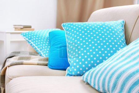 Interior design with pillows
