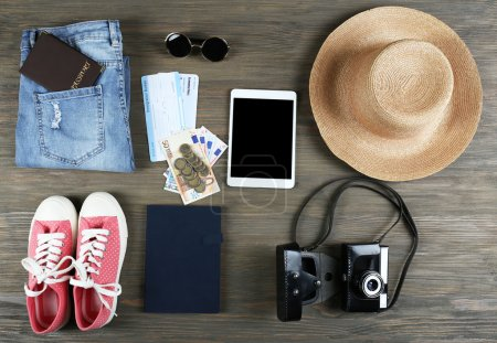 Set of travel things