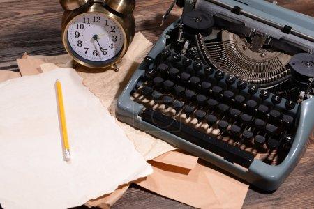 Old retro typewriter