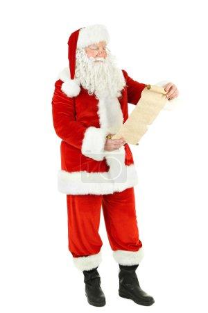 Photo pour Liste de souhaits du Père Noël, isolé sur fond blanc - image libre de droit