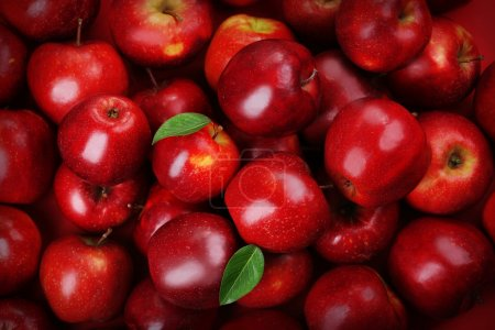 Photo for Red apples background - Royalty Free Image