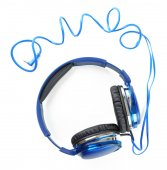 Moderní sluchátka izolovaných na bílém