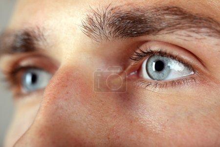 Photo for Beautiful blue man eyes close up - Royalty Free Image