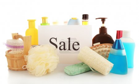 Goods for sale, isolated on white