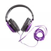 Moderní fialová sluchátka