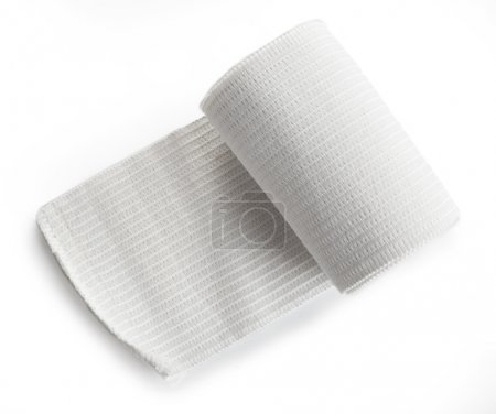Medical bandage roll isolated