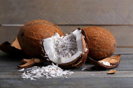Coconut shavings in coconut