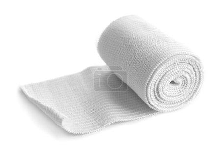 Photo pour Rouleau de bandage médical isolé - image libre de droit
