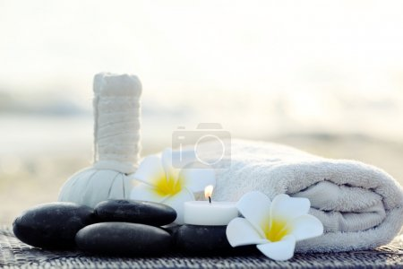 Photo for Beautiful spa composition outdoors - Royalty Free Image
