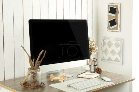 Workplace with Scandinavian interior design