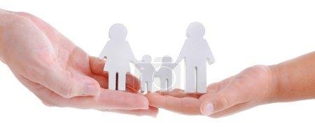 Photo pour Concept de famille unie isolée sur fond blanc - image libre de droit