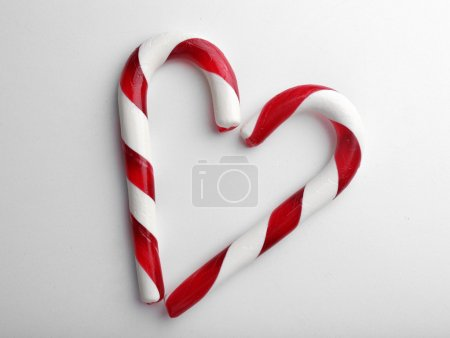 Christmas Candy Canes isolated on white