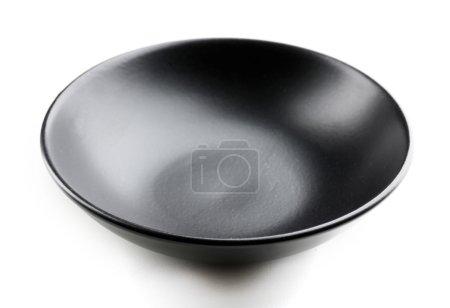 Empty black bowl