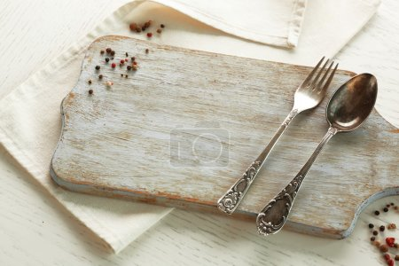 Pepper and kitchenware with board