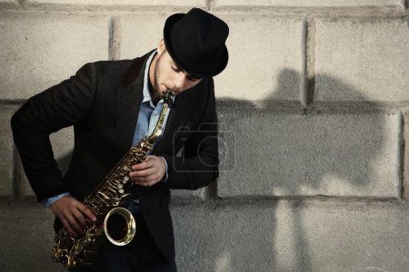 young man with sax