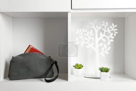 Fashion female handbag with book