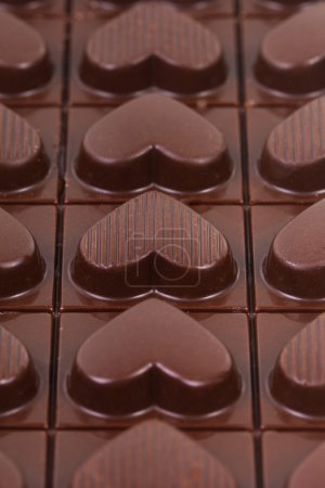 Photo for Chocolate hearts for Valentine Day - Royalty Free Image