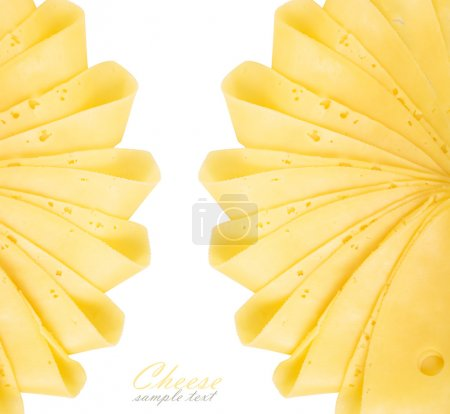 Photo for Cheese slices isolated on white background - Royalty Free Image