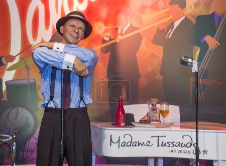 Photo pour LAS VEGAS - 23 OCT : Une cire du Frank Sinatra au musée Madame Tussauds à Las Vegas le 23 Octobre 2015, Le musée de deux étages 30 000 pieds carrés a plus de 100 répliques de cire . - image libre de droit
