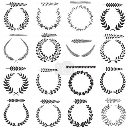 Laurel wreaths collection