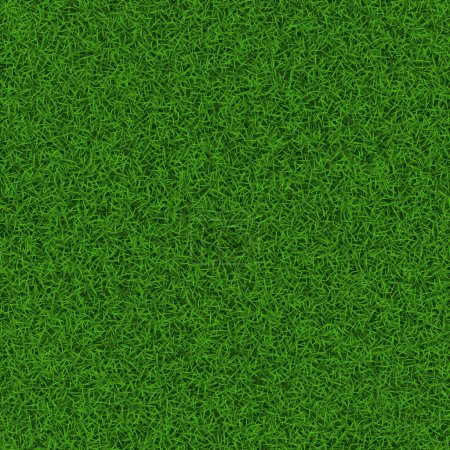 Illustration for Green soccer grass field seamless background texture, vector illustration. - Royalty Free Image