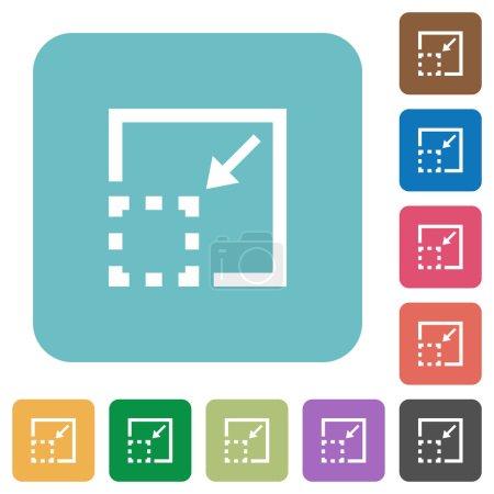Flat minimize element icons