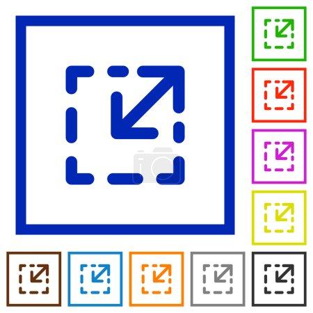 Resize element framed flat icons