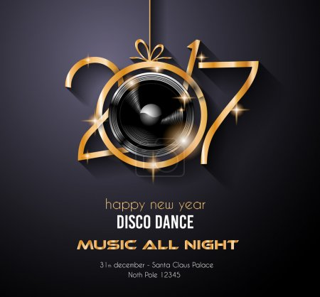 2017 New Year Disco Party Background